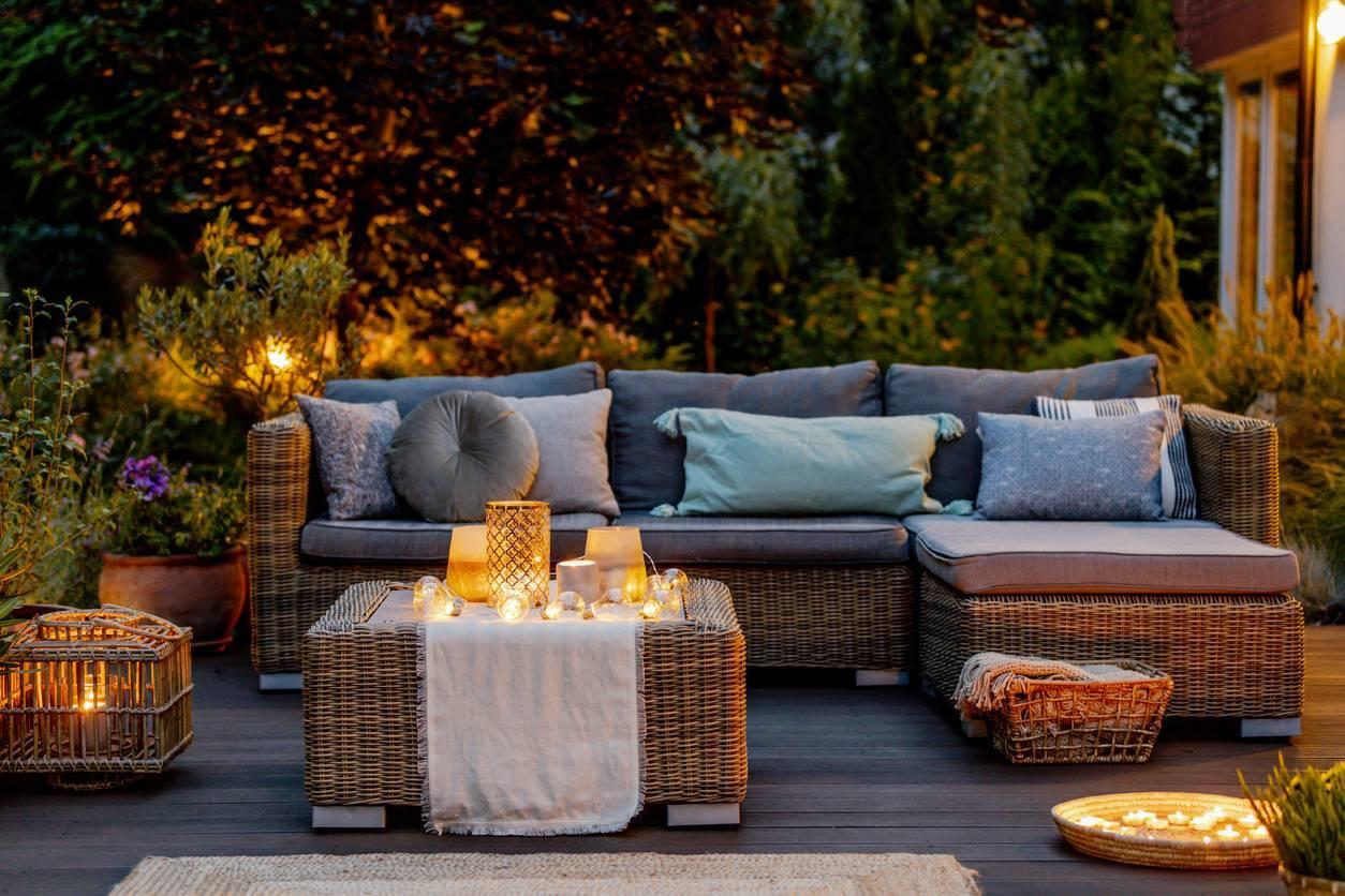 terrasse extérieur chic luminaires